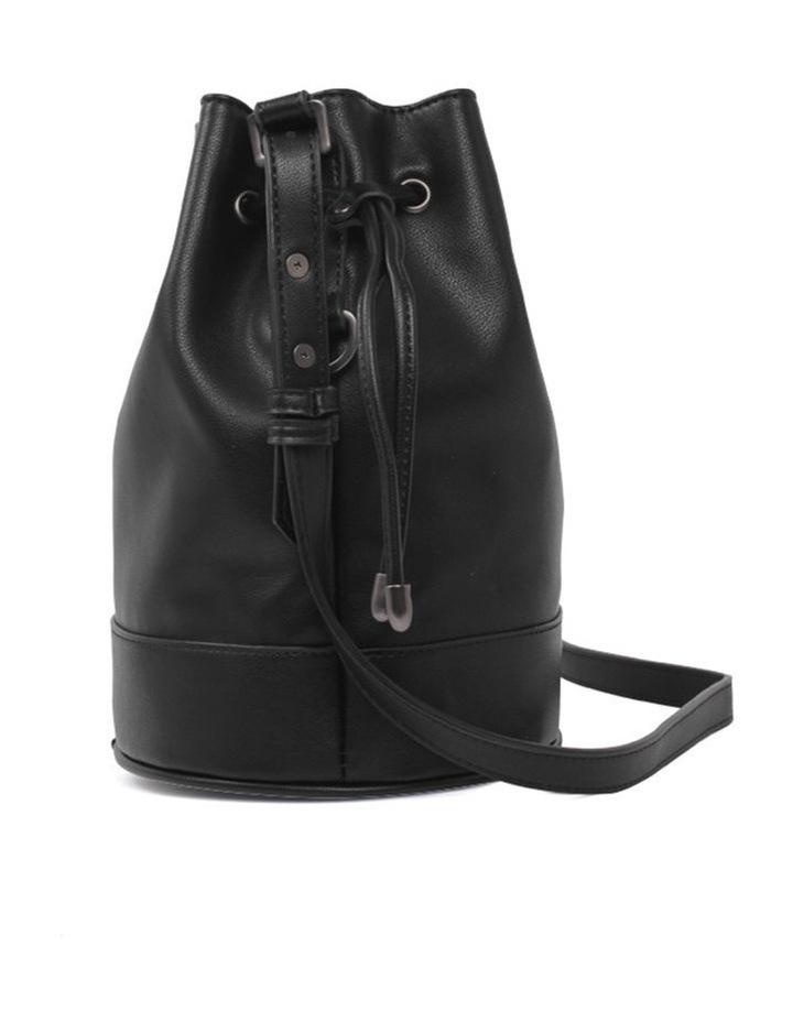 Amber Black Bucket Shoulder Bag image 3