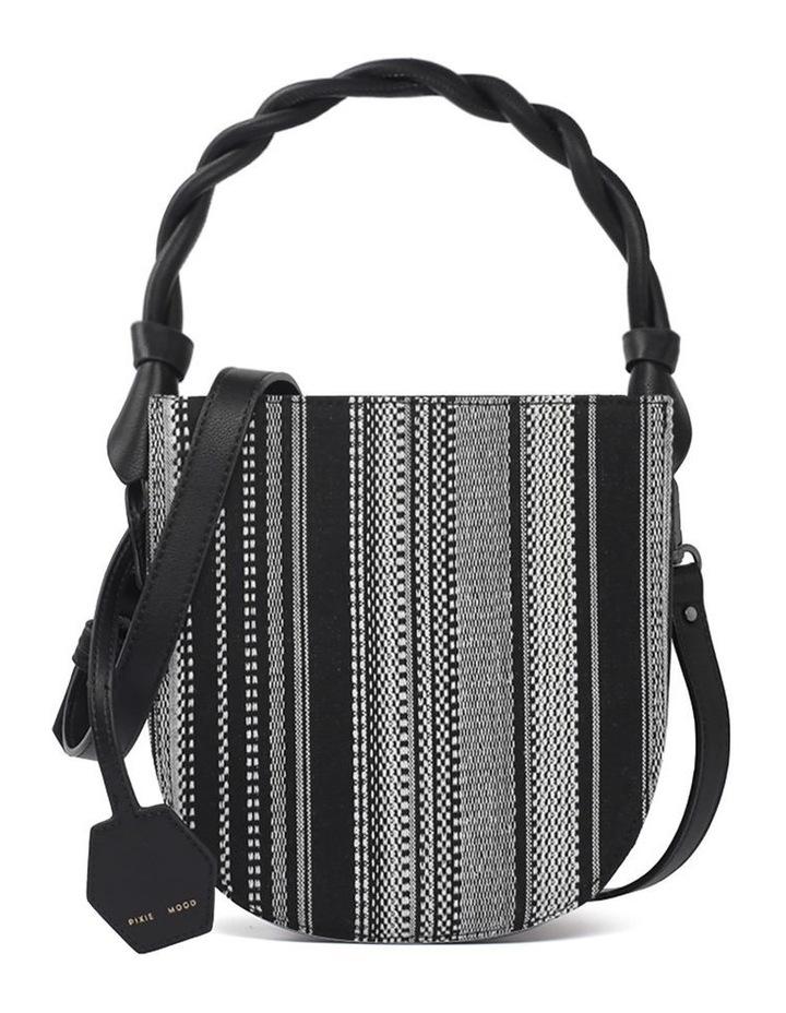 Tinsley Black White Top Handle Crossbody Bag image 1