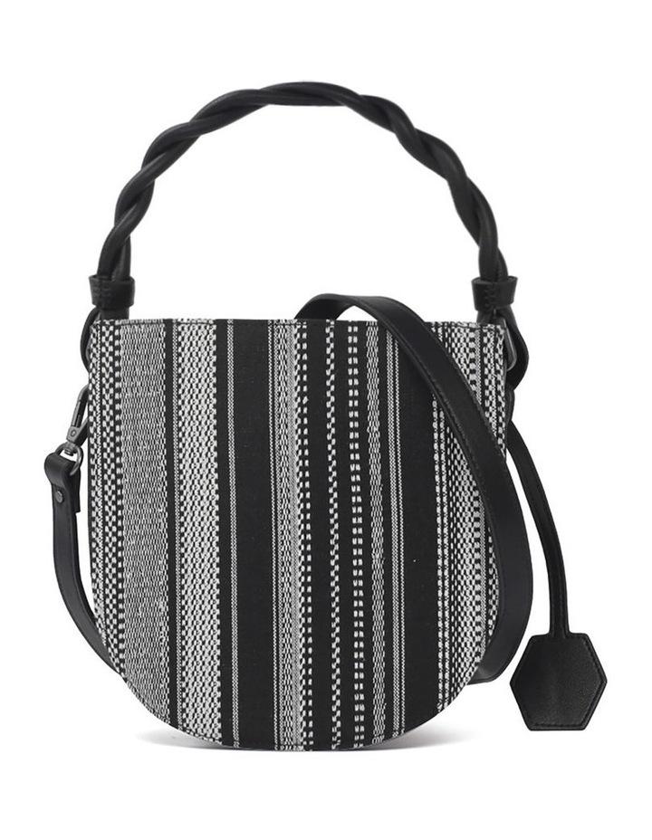 Tinsley Black White Top Handle Crossbody Bag image 2