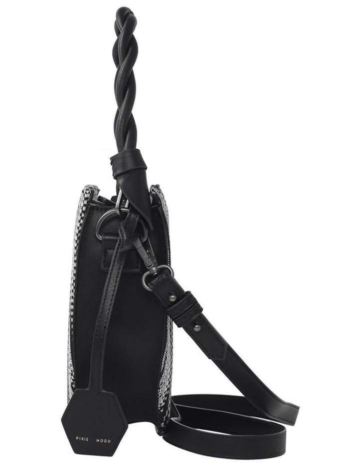 Tinsley Black White Top Handle Crossbody Bag image 3