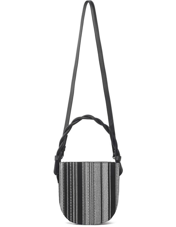 Tinsley Black White Top Handle Crossbody Bag image 4