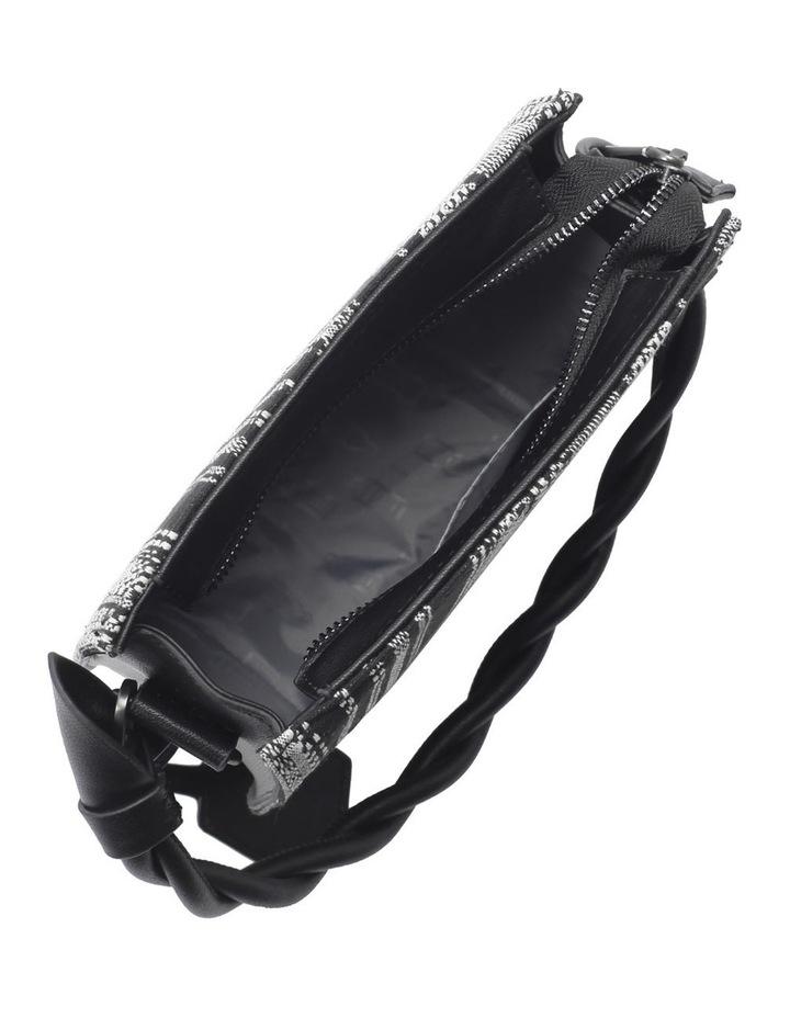 Tinsley Black White Top Handle Crossbody Bag image 5