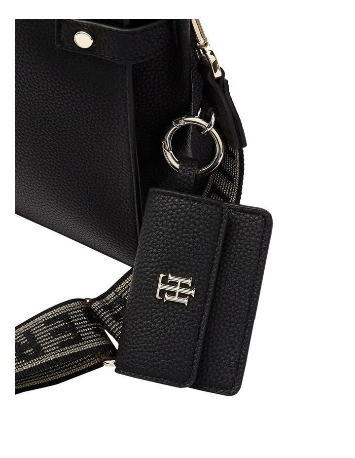 Soft Black Zip Top Satchel Bag image 2