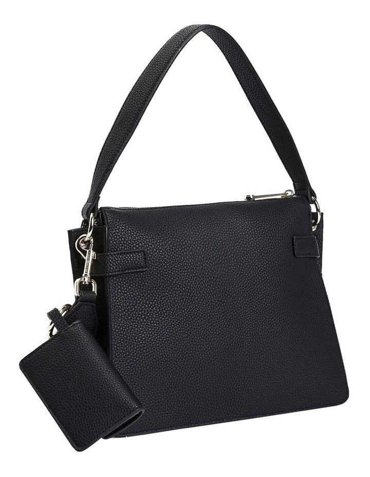 Soft Black Zip Top Satchel Bag image 3