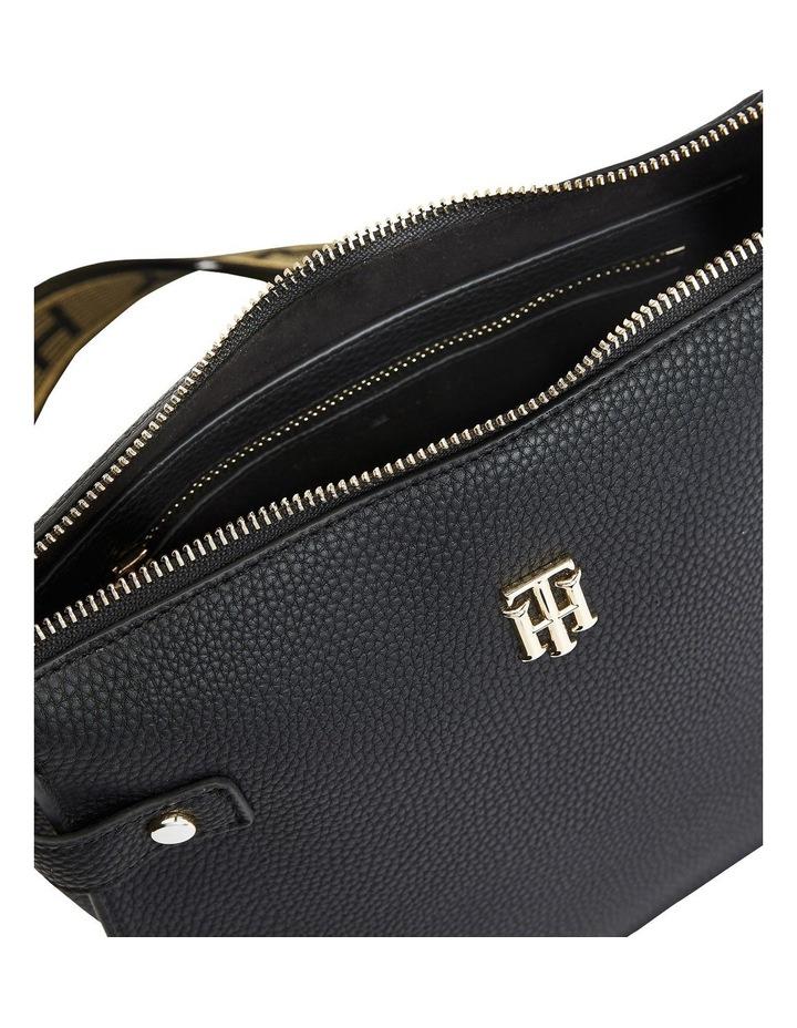 Soft Black Zip Top Satchel Bag image 4