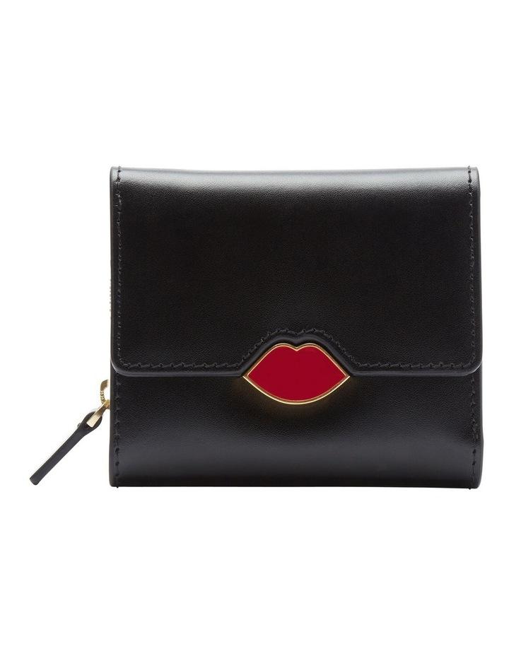 Black Pop Up Lip Saffie Wallet image 1