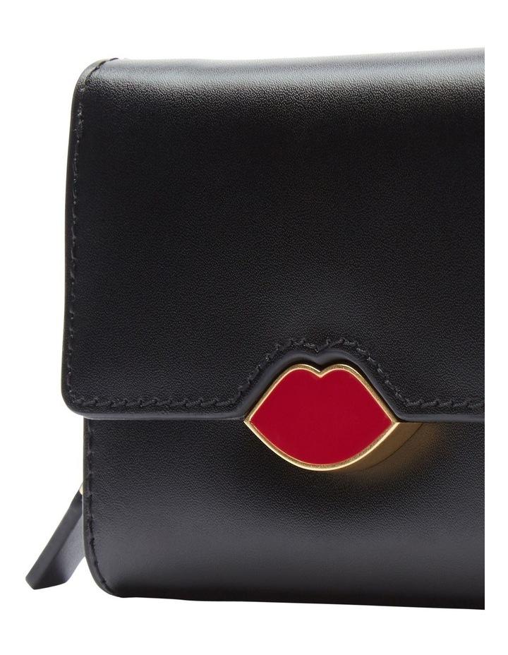 Black Pop Up Lip Saffie Wallet image 4