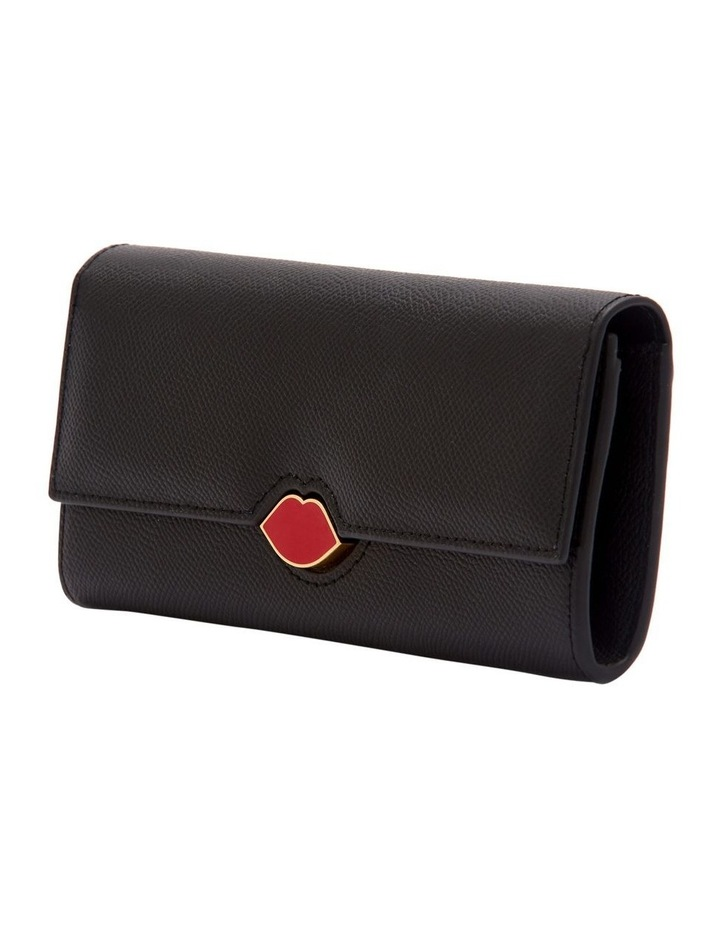 Black Leather Cora Wallet image 4