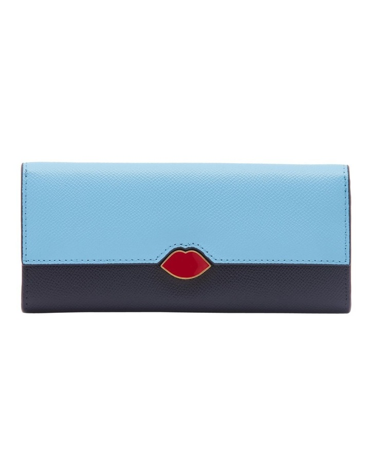 Sky/Navy Leather Cora Wallet image 1