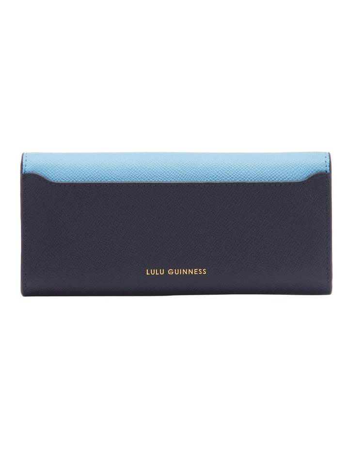 Sky/Navy Leather Cora Wallet image 2