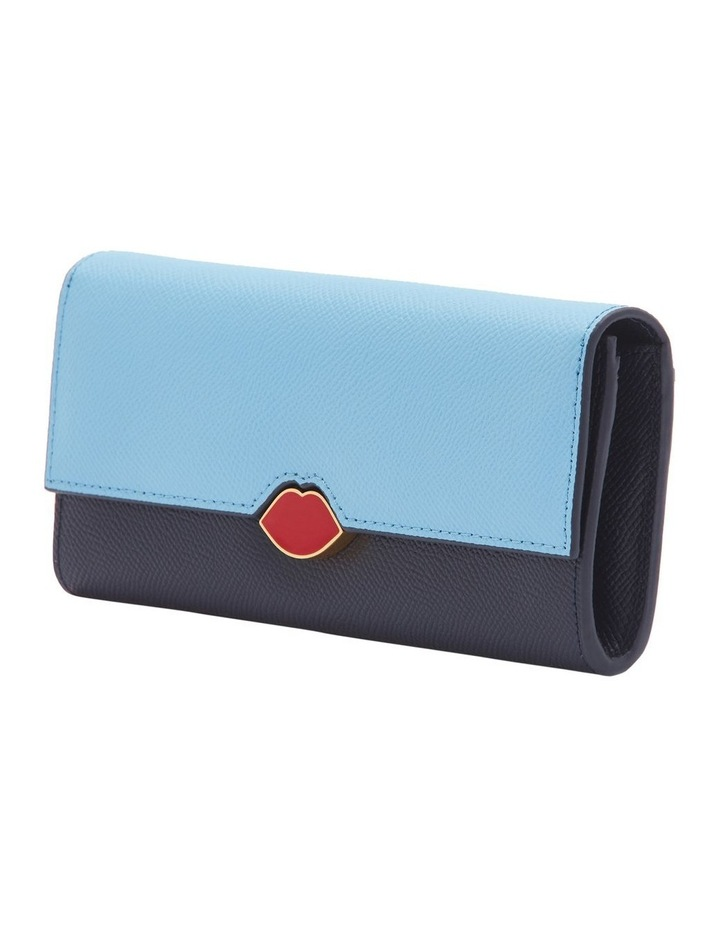 Sky/Navy Leather Cora Wallet image 4