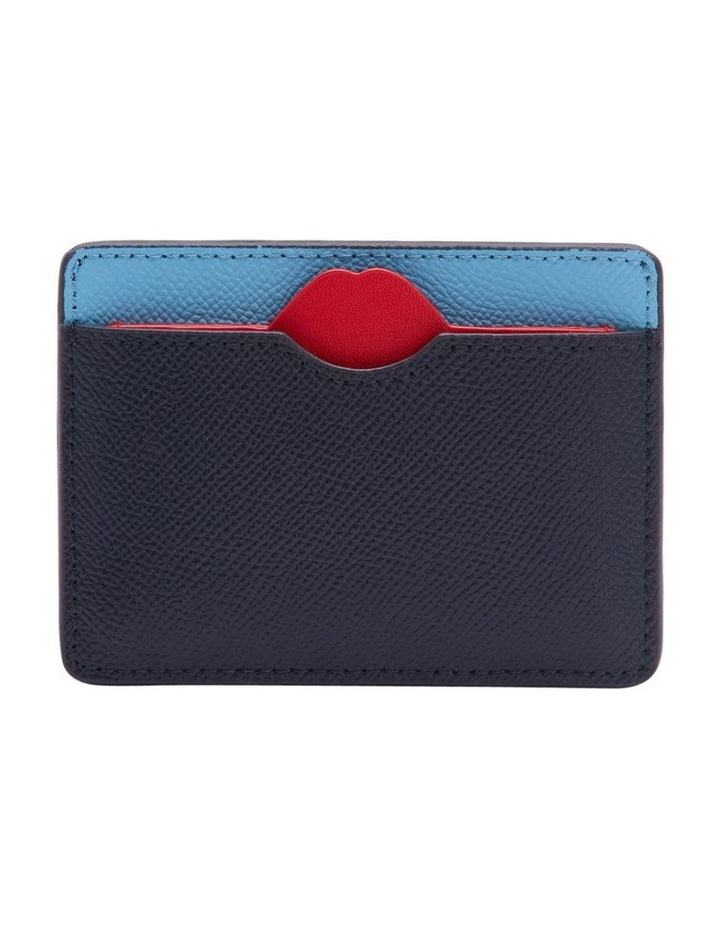 Sky/Navy Lip Cut Out Cate Cardholder image 1