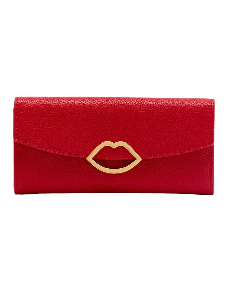 Red Cut Out Lip Trisha Wallet image 1