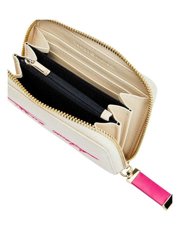 Iconic Tommy Classic Beige/Hot Magenta Zip Around Wallet image 3