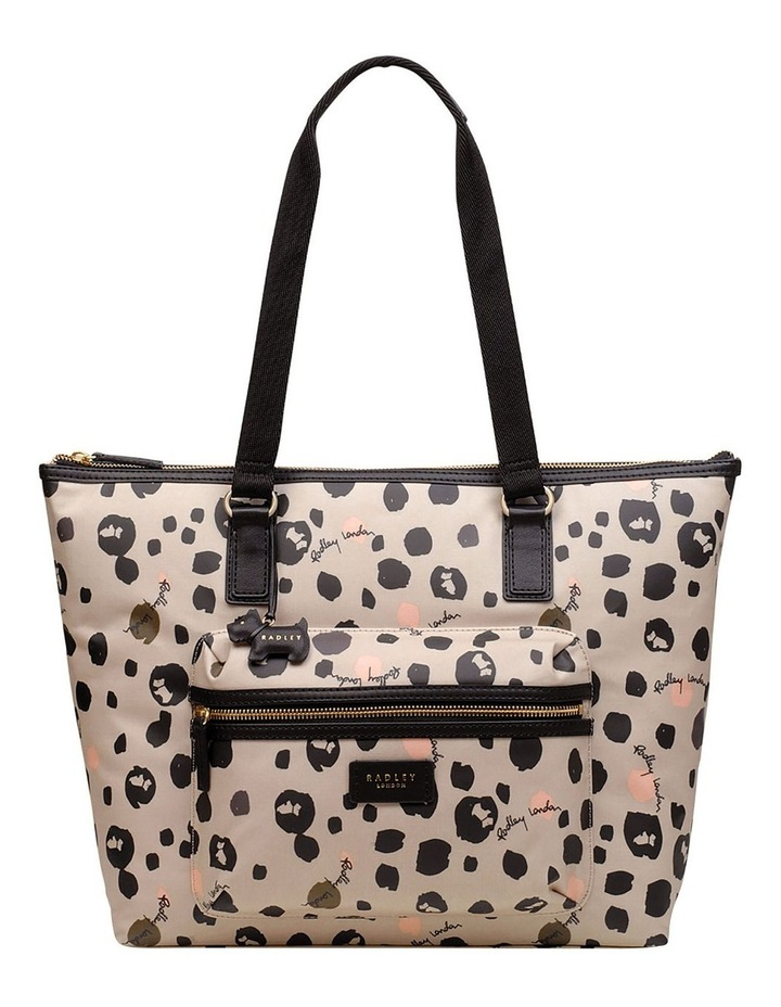 Bubble Dog Large Zip Top Tote Shoulder image 1