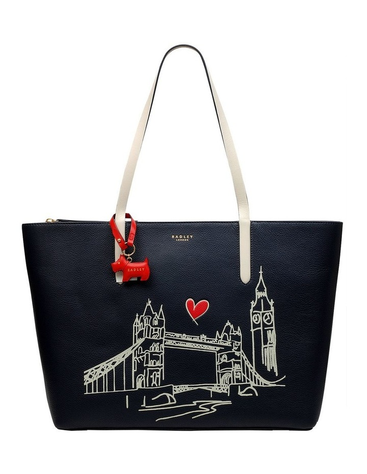 London Shopper Navy Tote Bag image 1