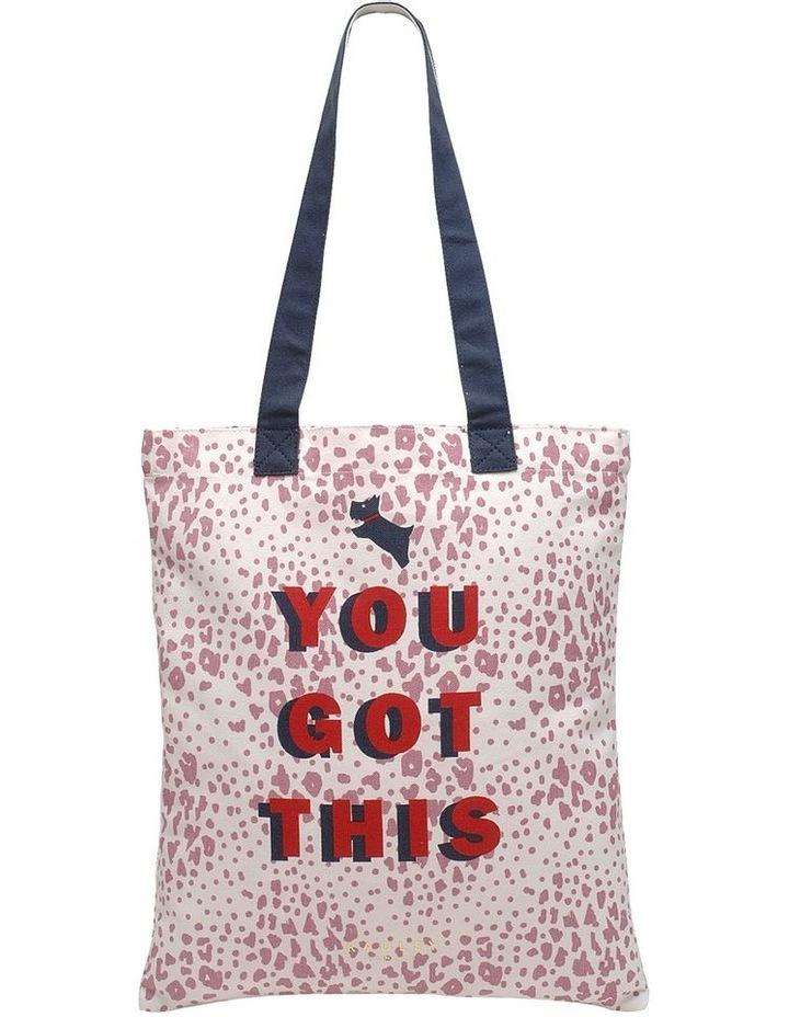 Motivational Pink Tote Bag image 1