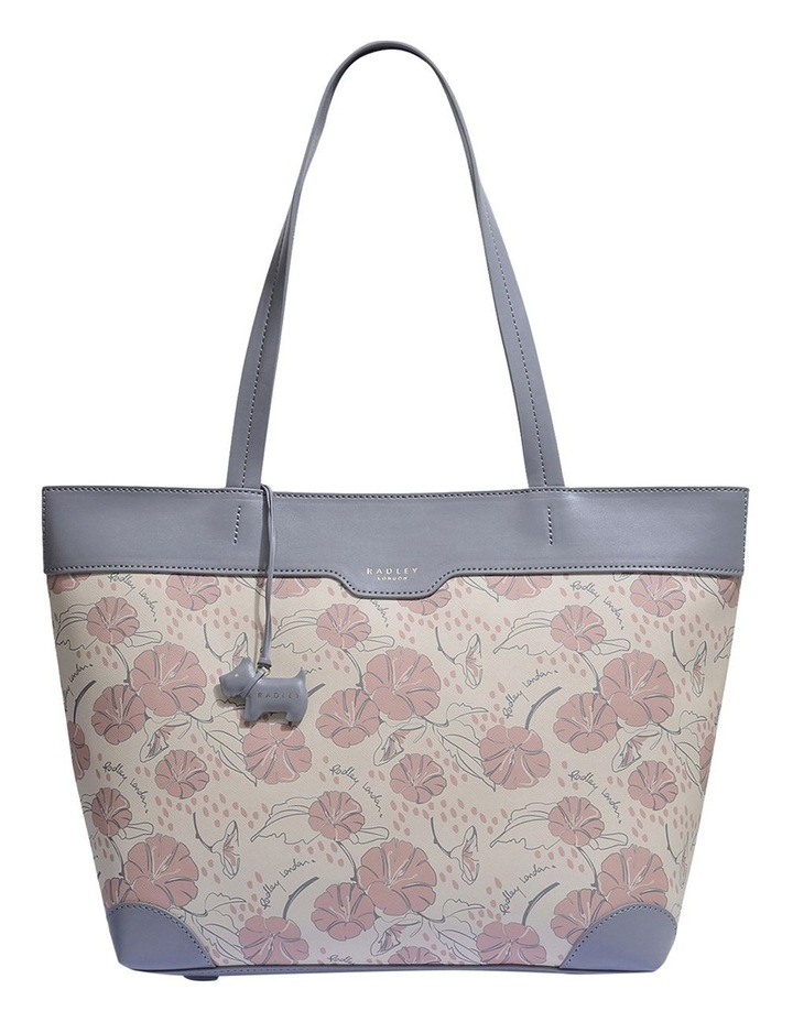 Moonflower Large Zip-Top Shoulder Tote Bag image 1