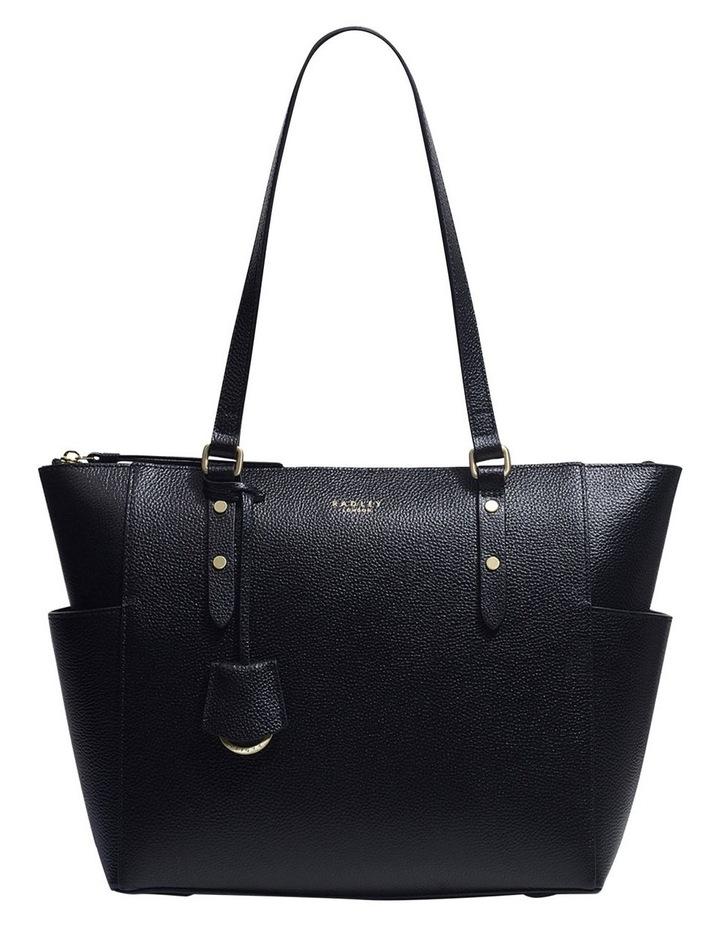 Silk Street Large Zip-Top Black Tote Bag image 1