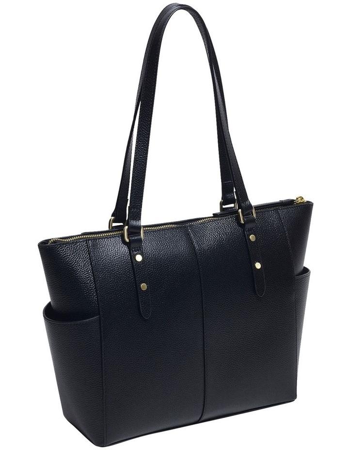 Silk Street Large Zip-Top Black Tote Bag image 3