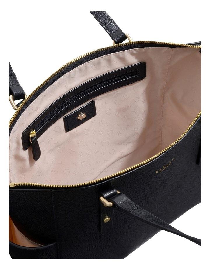 Silk Street Large Zip-Top Black Tote Bag image 4