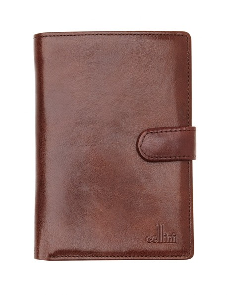 Leather Bifold Wallet with Tab Closure CW0074 image 1