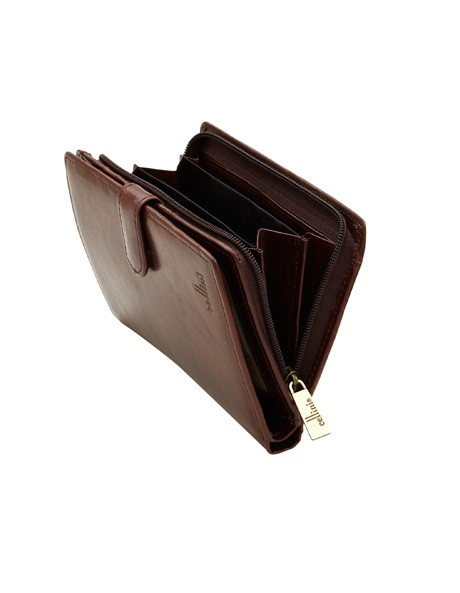 Leather Bifold Wallet with Tab Closure CW0074 image 3