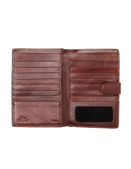 Leather Bifold Wallet with Tab Closure CW0074 image 2