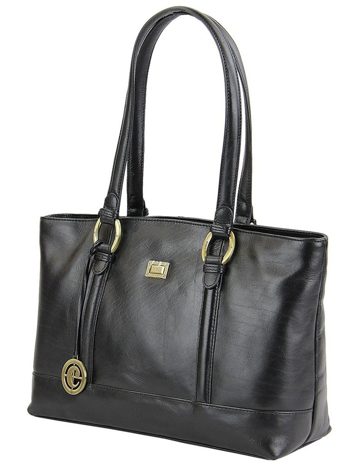 Double Handle Tote In Black Clg013 image 2