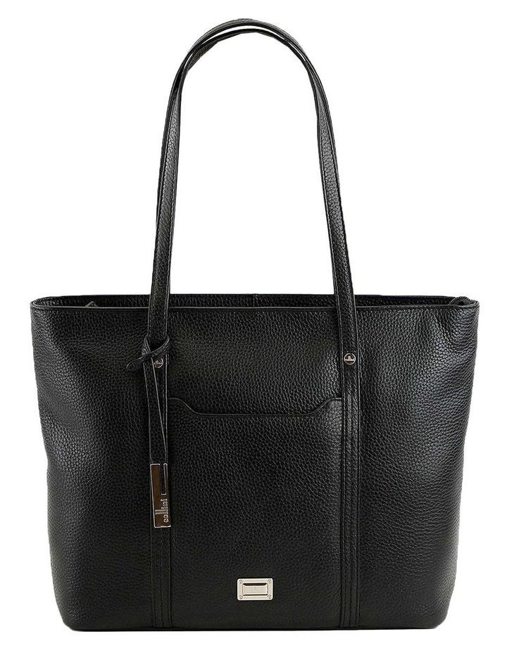 CLQ201 Colton Double Handle Black Tote Bag image 1