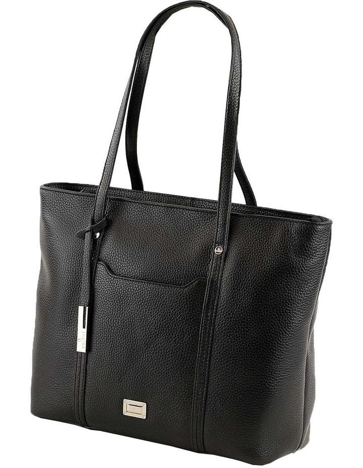 CLQ201 Colton Double Handle Black Tote Bag image 2