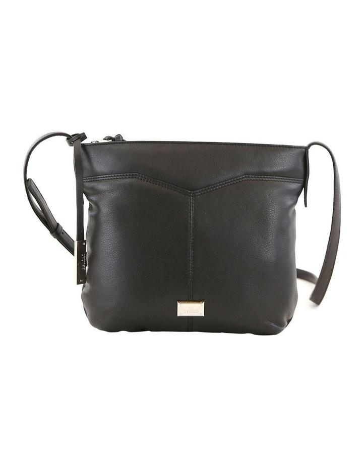 CLQ207 Fairview Zip Top Black Crossbody Bag image 1