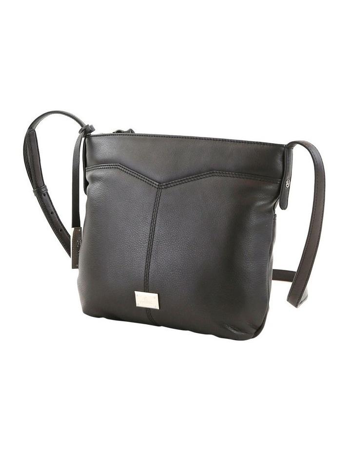 CLQ207 Fairview Zip Top Black Crossbody Bag image 2