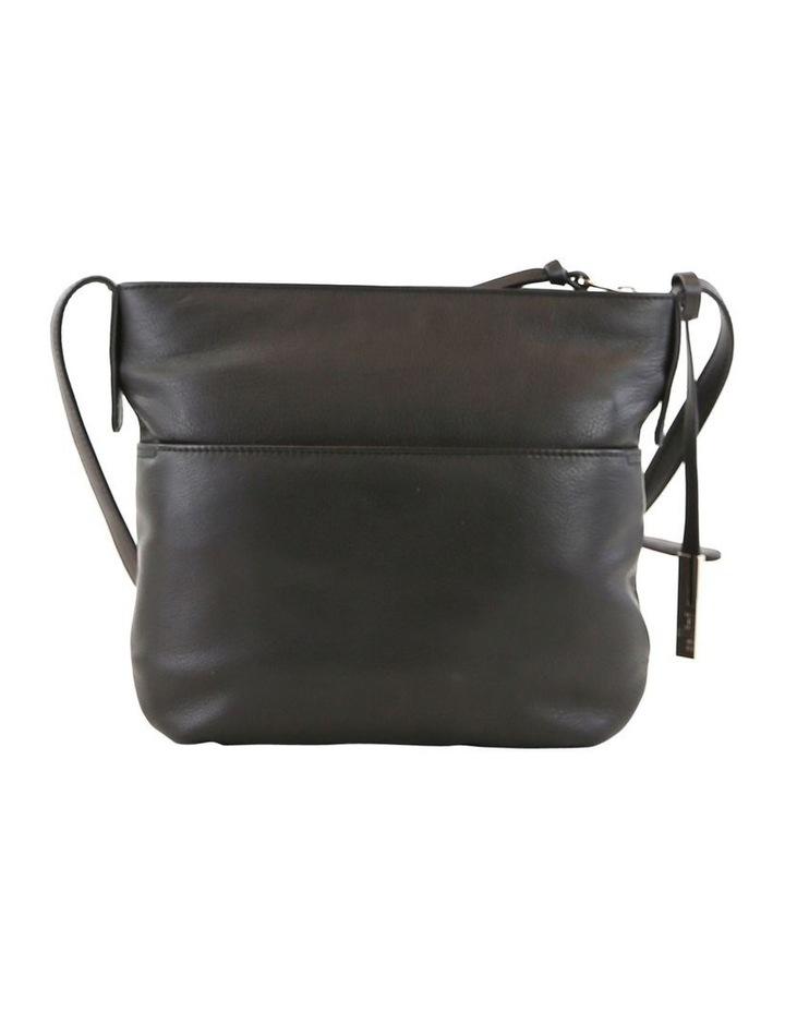 CLQ207 Fairview Zip Top Black Crossbody Bag image 3