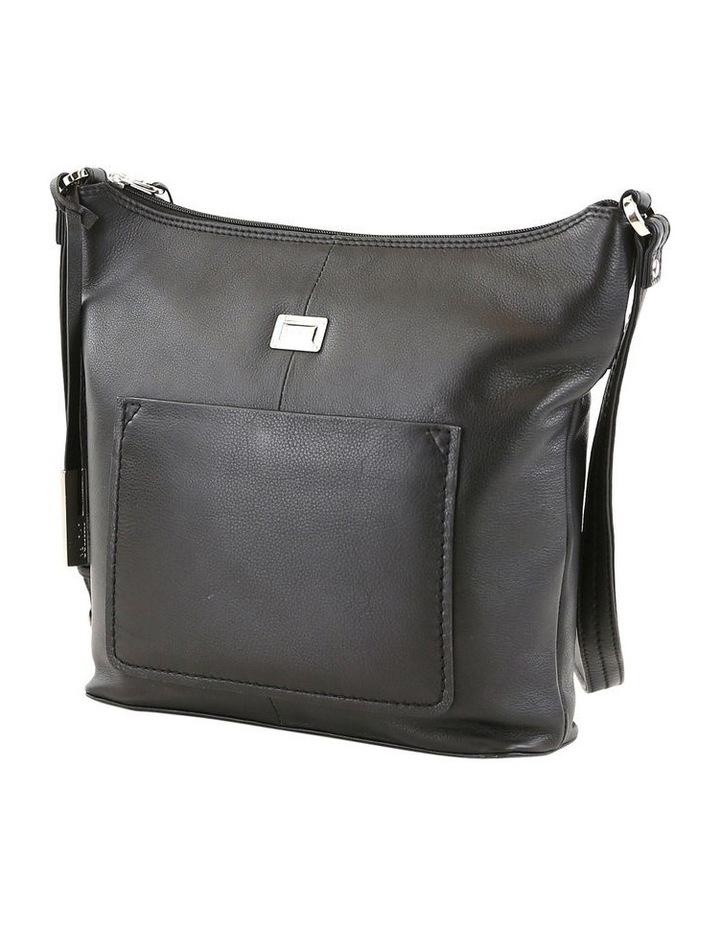 CLQ213 Ridgeway Zip Top Black Crossbody Bag image 2