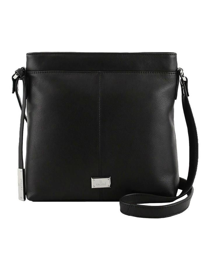 CLQ251 Hixson Zip Top Black Crossbody Bag image 1