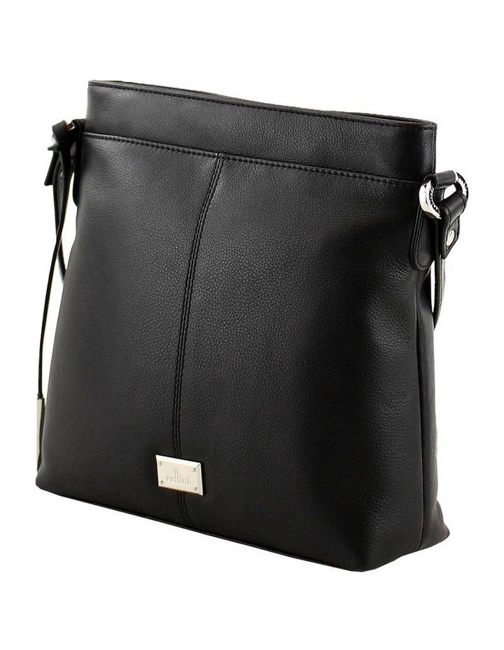 CLQ251 Hixson Zip Top Black Crossbody Bag image 2