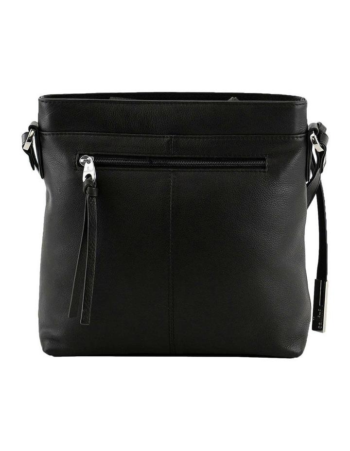 CLQ251 Hixson Zip Top Black Crossbody Bag image 3