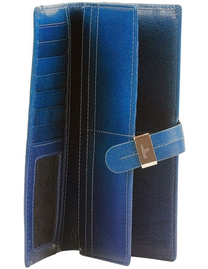 Trifold Tab Wallet In Blue Cwf006 image 2