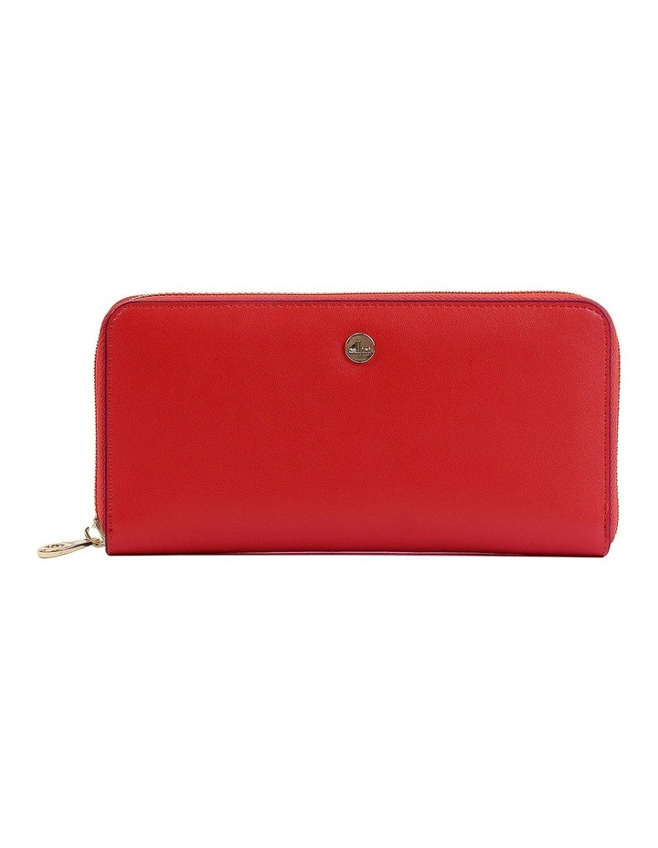 RFID Continental Wallet in Red CWI221 image 1