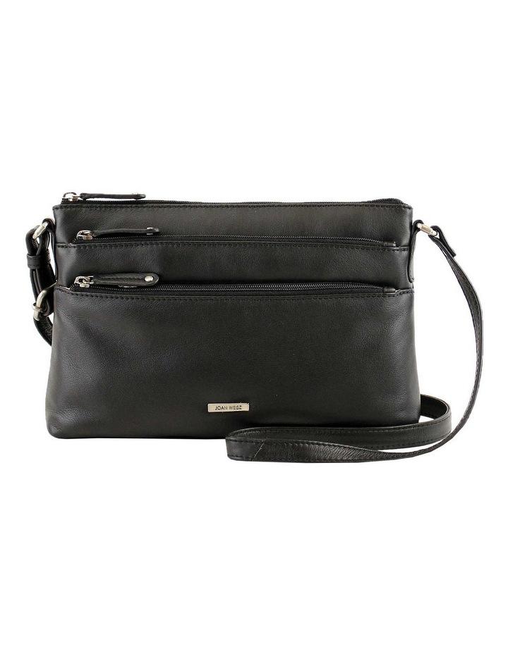 JWQ108 Safari E/W Zip Top Black Crossbody Bag image 1