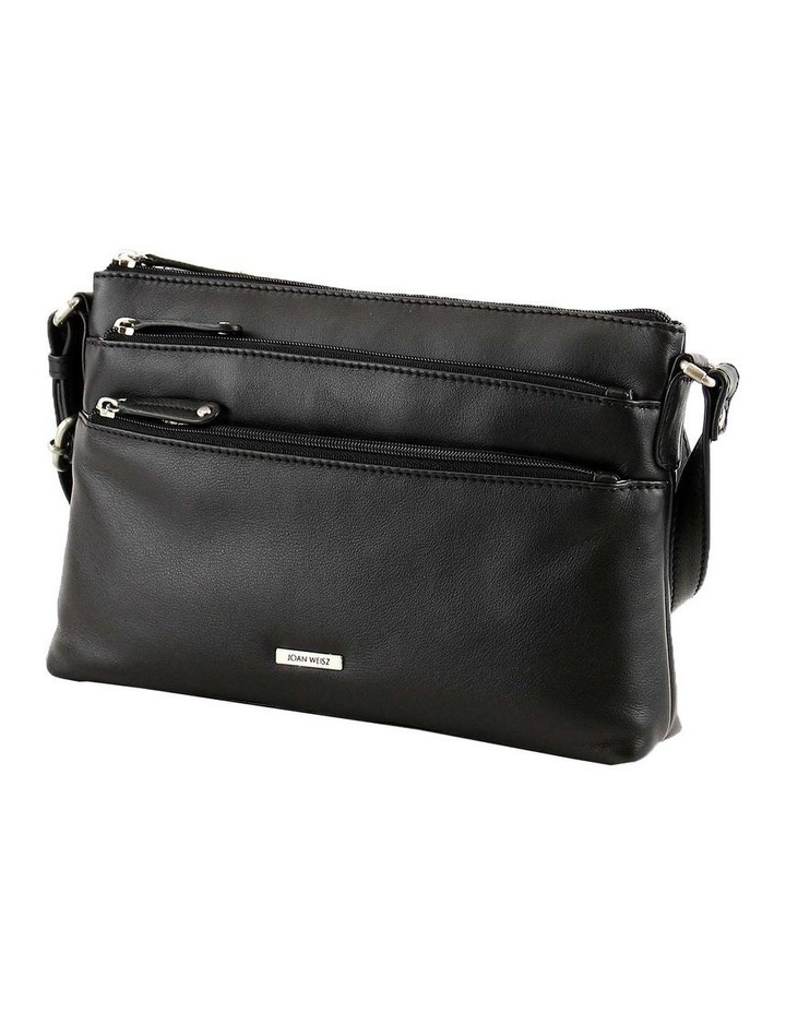JWQ108 Safari E/W Zip Top Black Crossbody Bag image 2