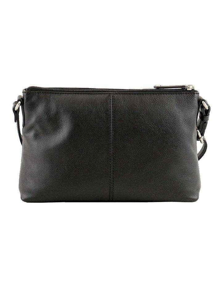 JWQ108 Safari E/W Zip Top Black Crossbody Bag image 3