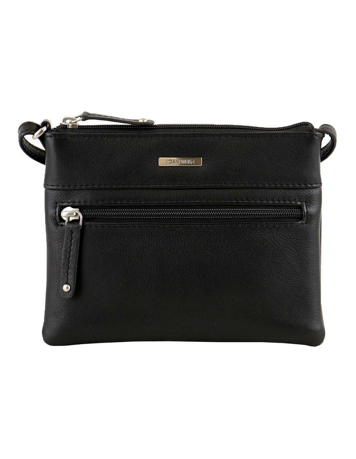 JWQ109 Getaway Zip Top Black Crossbody Bag image 1
