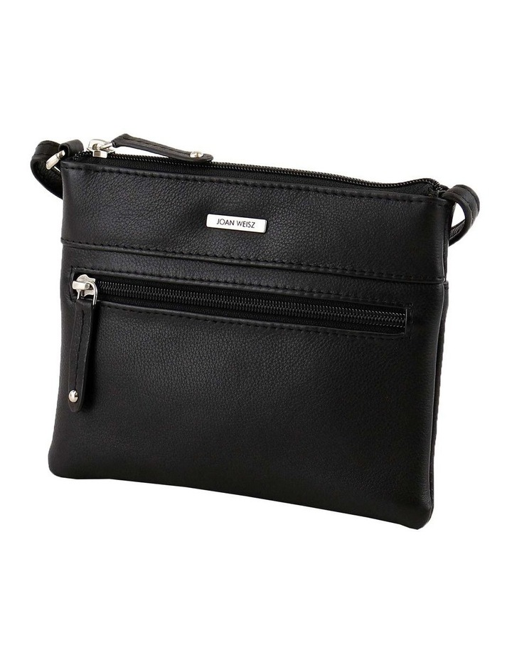 JWQ109 Getaway Zip Top Black Crossbody Bag image 2