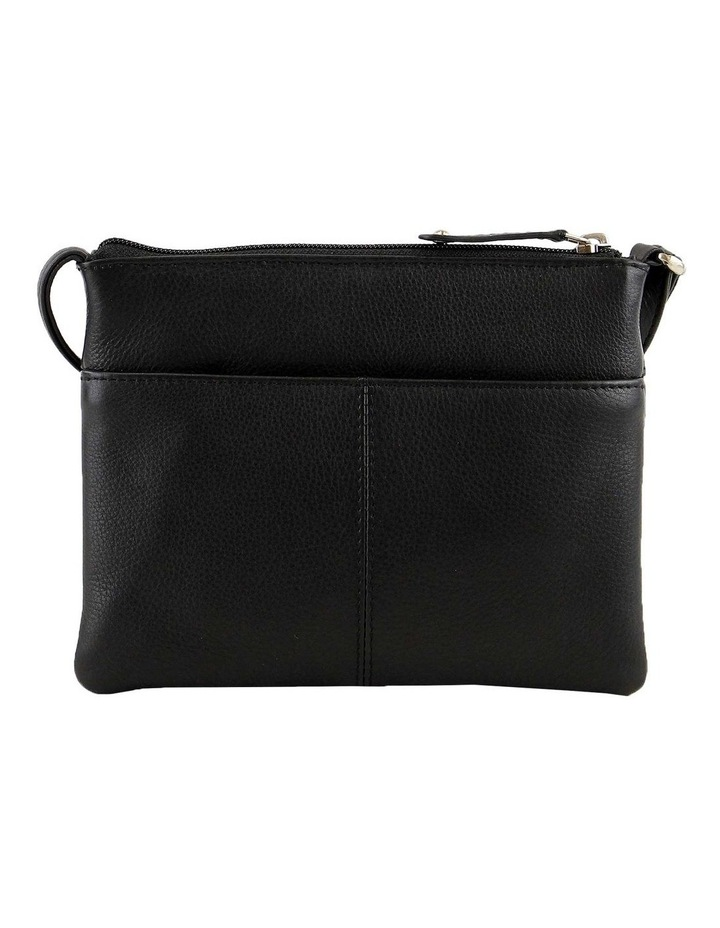 JWQ109 Getaway Zip Top Black Crossbody Bag image 3