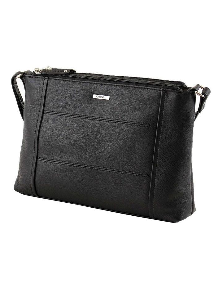 JWQ113 Picnic E/W Zip Top Black Crossbody Bag image 1