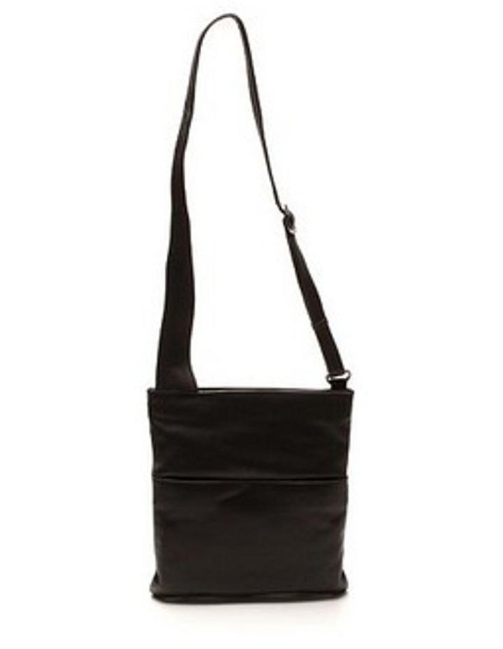 Large Front Zip Pocket Sling in Black 3978 image 1