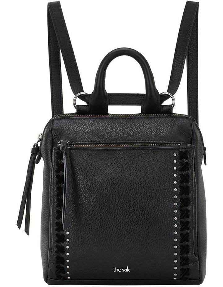108224BLA Loyola Zip Top Backpack image 1