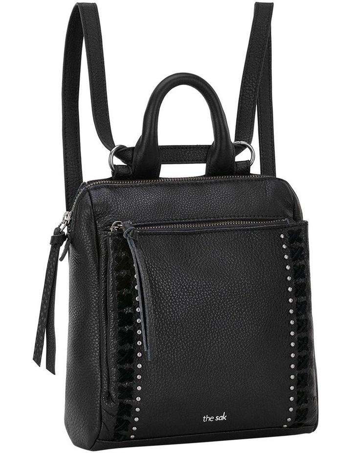 108224BLA Loyola Zip Top Backpack image 2